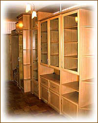 Библиотеки шкафы-купе на заказ от производителя встроенные и.